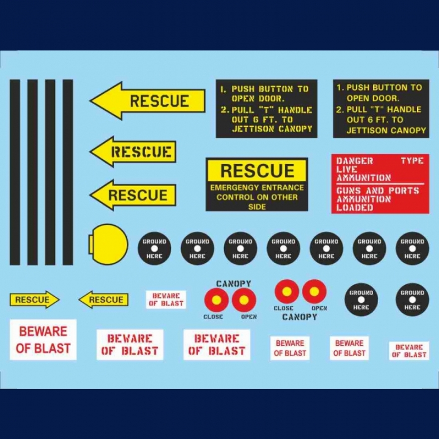 F 100 Super Sabre Fw 511 Water Slide Decals Tailormadedecals