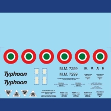 Eurofighter IAF Display 2009 Basic Stencils Water Slide Decals